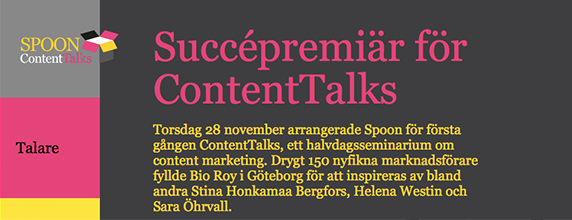 Spoon Content Talks Event kring Content Marketing